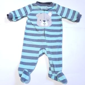 0-3M Dog Onesie Carter's | Blue Grey Fleece